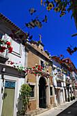 Portugal, Viana do Castelo. Pedestrian street in the city center.