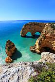 Portugal Algarve, Marinha. Cliffs.