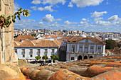 Portugal, Algarve. Faro. City seen from the Miradouro de Santo Antonio.