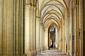 France, Normandy. Manche. Coutances. Deserted cathedral of Coutances.
