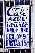 Spain, Andalusia, Tarifa, Cafe Azul
