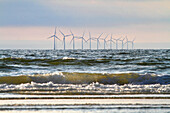 Nederlands. North Holland. Wijk aan Zee. Off-shore Wind mills.