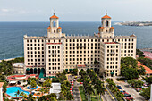 The historic Hotel Nacional de Cuba located on the Malecon in the middle of Vedado, Havana, Cuba, West Indies, Central America