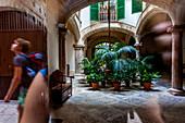'Backyard or Patio in the old city of Palma, Palma de Mallorca; Balearic Islands; Spain; Europe'