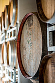 Wood Wine Casks in Winery