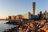 Turning torso in the rehabilitated harbor area, Malmo, Southern Sweden, Sweden