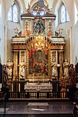 Church of St. Maria Kyrkan from inside, Ystad, Skane, Southern Sweden, Sweden