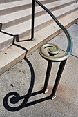 Handrail and Shadow, Sayles Hall, Brown University, Providence, Rhode Island, USA