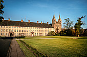 UNESCO World Heritage Corvey Castle and Westwerk in Hoexter, castle and Westwerk church, North Rhine-Westphalia, Germany