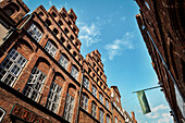 UNESCO World Heritage Hanseatic Town Luebeck, historic houses in the old town, Schleswig-Holstein, Germany