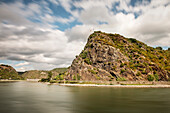 UNESCO World Heritage Upper Rhine Valley, Loreley Rocks and Katz castle, Rhineland-Palatinate, Germany