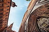 UNESCO World Heritage Hanseatic city of Stralsund, portal of the Nikolai church on the market square, Mecklenburg-West Pomerania, Germany, Baltic Sea