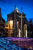 UNESCO World Heritage Voelklinger Huette, former iron works, industrial building, Voelklingen, Saarland, Germany