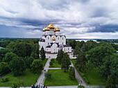 Aerial of Yaroslavl Assumption Cathedral, Yaroslavl, Russia