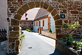 Access to the ruins of the Gnadenberg Monastery in Berg am Neumarkt, Lower Bavaria