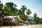 Moken village on Bo Cho island in the Myeik Archipelago, Myanmar