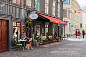 Boutiques, cafes and galleries in Haga district, Sweden