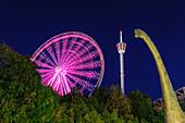 Liseberg amusement park with giant dinosaurs, Sweden