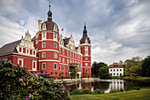 UNESCO World Heritage Muskau Gardens Prince Pueckler Park, New and Old Castle, Lausitz, Saxony, Germany