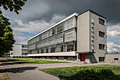UNESCO World Heritage Bauhaus school, main building of Bauhaus Dessau, Dessau-Rosslau, Saxony-Anhalt, Germany
