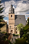 UNESCO World Heritage Martin Luther towns, baptistery church where reformer Martin Luther was baptised, Eisleben, Saxony-Anhalt, Germany