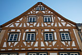 Half-timbered Nikolaus Georg Reigersberger Haus building in Altstadt old town, Aschaffenburg, Spessart-Mainland, Bavaria, Germany