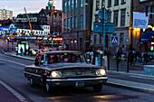 American vintage car in the old town, Stockholm, Sweden
