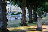 Tree avenue in front of the castle Drottningholm, Stockholm, Sweden