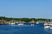 Marina on the popular tourist destination Sandhamn, Stockholm, Sweden