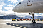 kangerlussuaq international airport north of the arctic circle, greenland