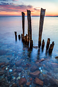poles, pole, stones, beach, Baltic Sea, Hohwacht, Schleswig Holstein, Germany