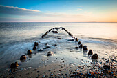 poles, pole, stones, beach, Baltic Sea, Lippe, Hohwacht, Schleswig Holstein, Germany