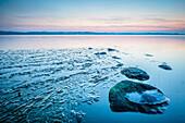 stones, Schlei, ice, Weseby, Missunde, Schleswig, Schleswig Holstein, Germany