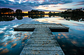 pier, lake, Ehmkendorf, nature reservat Westensee, Germany