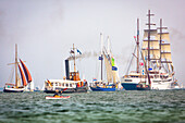 sailingship, sailingships, Windjammerparade, Kiel Week, Baltic Sea, Kiel, Kiel fjord, Schleswig Holstein, Germany