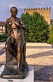 'France, Landes, LMont-de-Marsan, Lacataye keep, Despiau-Wlerick Museum of Modern Figurative Sculpture, sculpture by Robert Wlerick, ''La Grande JEunesse'' (1935)'