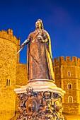 England,Berkshire,Windsor,Windsor Castle,Statue of Queen Victoria