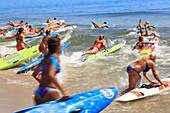 Usa, New Jersey, Sandy Hook. The Sandy Hook All Women Lifeguard Tournament