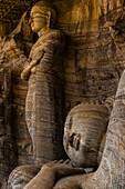 Reclining Buddha, Gal Vihara, Ruins of ancient city, Polonnaruwa, Sri Lanka