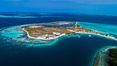 Aerial View, pirate cay Waterscape Archipelago los roques venezuela