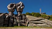House of Bulgarian Communist Party, Buzludzha site battle Bulgarian forces and Ottoman Empire, established 1974 architect Stoilov, Stara Zagora Region, Bulgaria, Europe