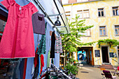 Kunsthof-Passage, shops, hangout in the urban quarter, district of Dresden Neustadt Dresden-Neustadt, Dresden, Saxony, Germany, Europe