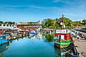 Harbour in Sassnitz, Jasmund, Ruegen Island, Mecklenburg-Western Pomerania, Germany