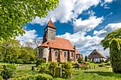 Church, Middelhagen, Moenchgut, Ruegen Island, Mecklenburg-Western Pomerania, Germany