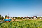 Houses near the marina, Gager, Moenchgut, Ruegen Island, Mecklenburg-Western Pomerania, Germany