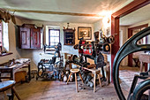 Cobblers studio, historic crafts museum, Gingst, Ruegen Island, Mecklenburg-Western Pomerania, Germany