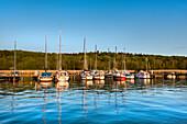 Harbour at Grosser Jasmunder Bodden, Ralswiek, Ruegen Island, Mecklenburg-Western Pomerania, Germany