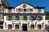 Hotel Zum Schwarzen Kreuz, Altenahr, Ahrsteig, Rotweinwanderweg, Ahr, Rheinland-Pfalz, Deutschland