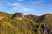 Are castle, Altenahr, Ahrsteig hiking trail, Rotweinwanderweg hiking trail, Ahr, Rhineland-Palatinate, Germany
