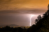Thunderstorm above the city of Salzburg, Austria